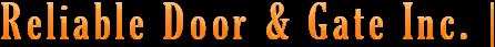 reliable-door-gate Logo